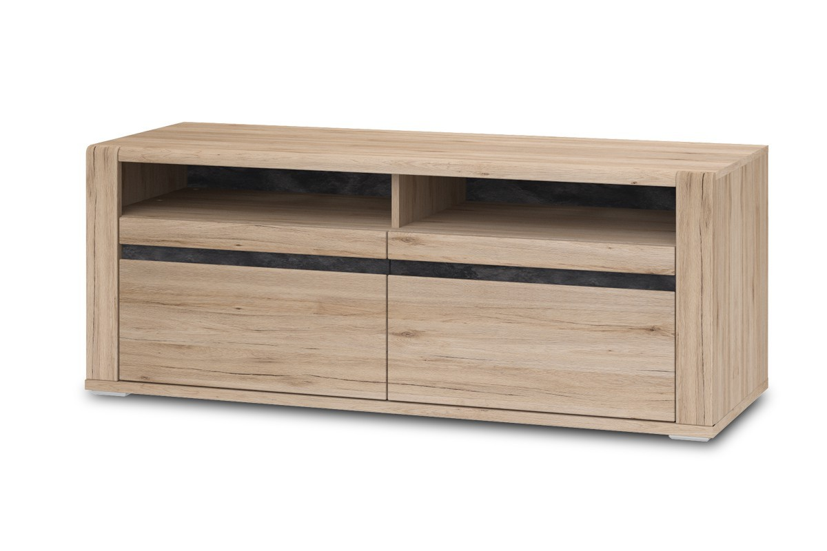 TV, Hifi stolek  - dřevěný Minneota Typ 31 (dub sanremo pískový/břidlice)