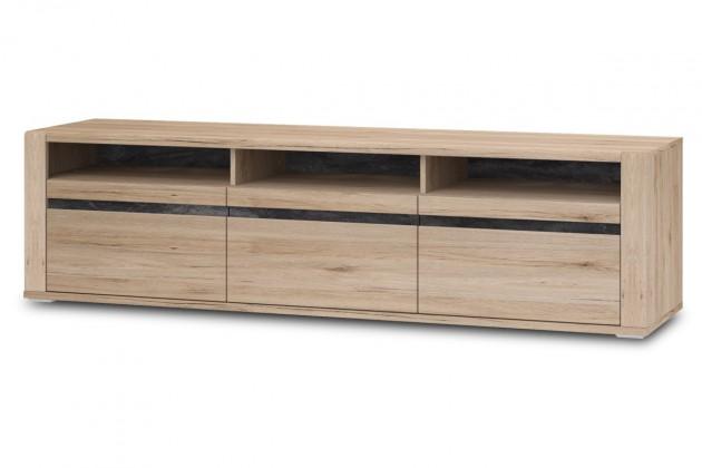 TV, Hifi stolek  - dřevěný Minneota Typ 32 (dub sanremo pískový/břidlice)