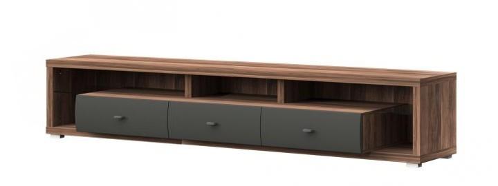 TV, Hifi stolek  - dřevěný New York Typ 18 (Slivka/ grafit matný)