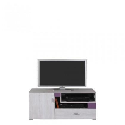 TV, Hifi stolek  - dřevěný NEXT NX 12 (borovice/fialová)