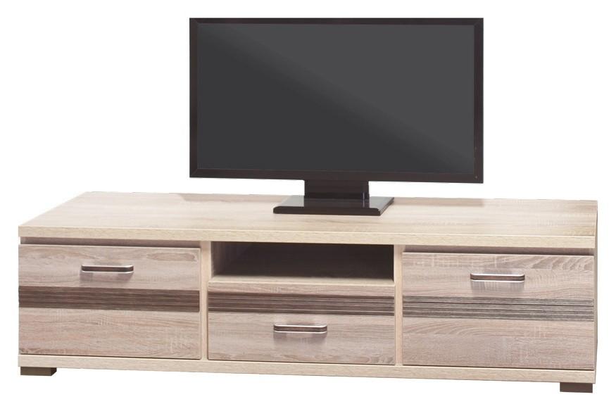 TV, Hifi stolek  - dřevěný Orest OR-2 (Dub Sonoma tmavý/Dub Sonoma Truffel)
