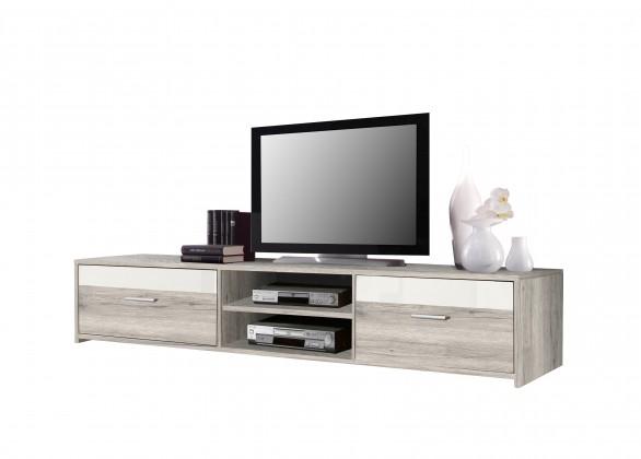 TV, Hifi stolek  - dřevěný Paco PCOT12-P75F(dub pískový/bílá)