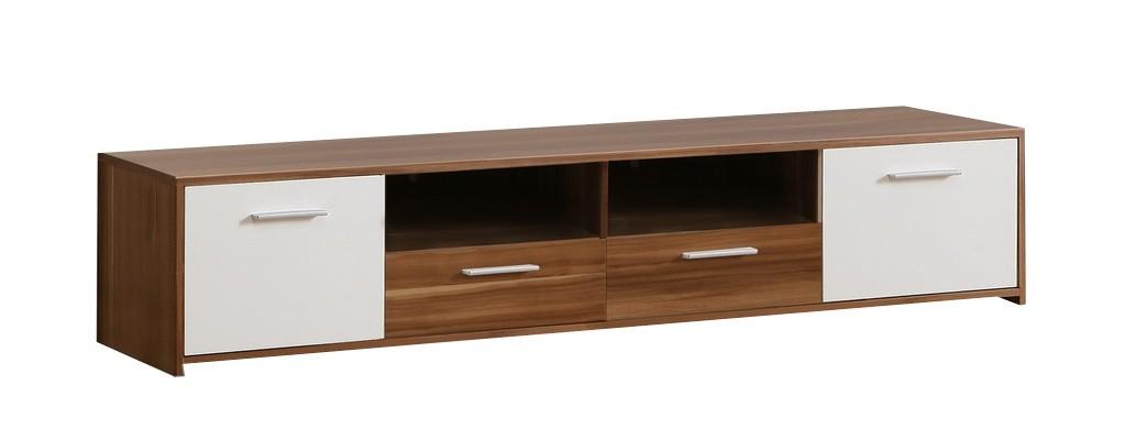 TV, Hifi stolek  - dřevěný Quadro QDRT16 (Ořech/bílá)