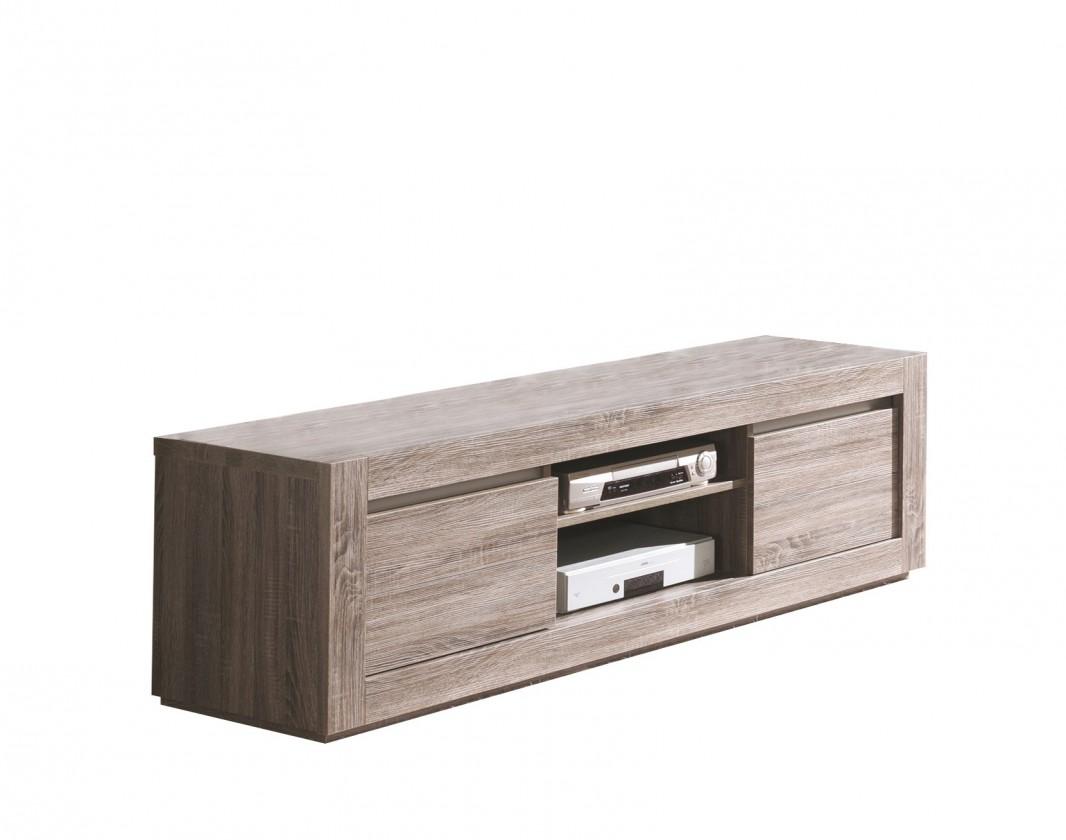 TV, Hifi stolek  - dřevěný Raffia - TV element C061 (dub černý)