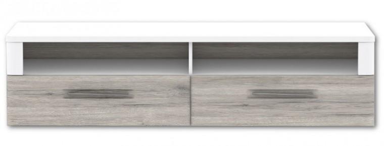 TV, Hifi stolek  - dřevěný Riva RIVT12 (Bílá / dub pískový)