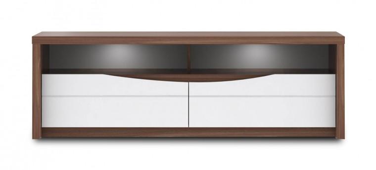 TV, Hifi stolek  - dřevěný Saint Tropez-STZT221B(J34 - dub sangalo/bílý lesk)