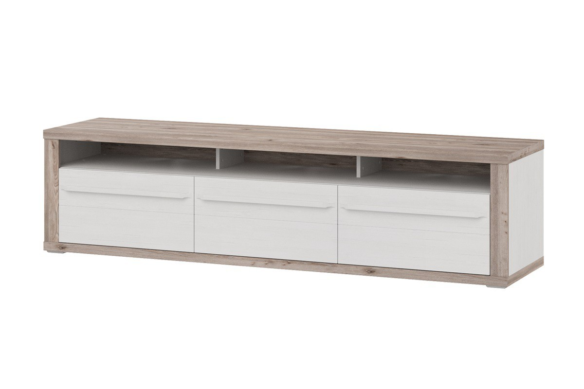 TV, Hifi stolek  - dřevěný Semi - Typ 33 (pino aurelio/dub nelson)