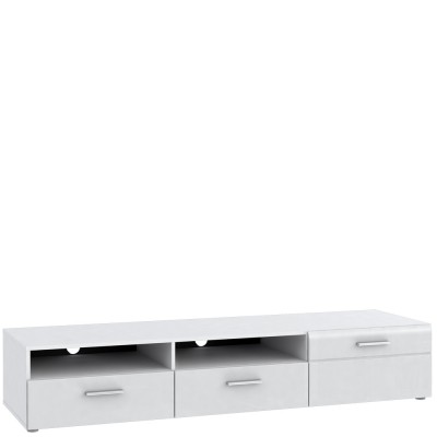 TV, Hifi stolek  - dřevěný Slate-STXT13R-Q11(bílá mat/bílá lesk/černá mat)