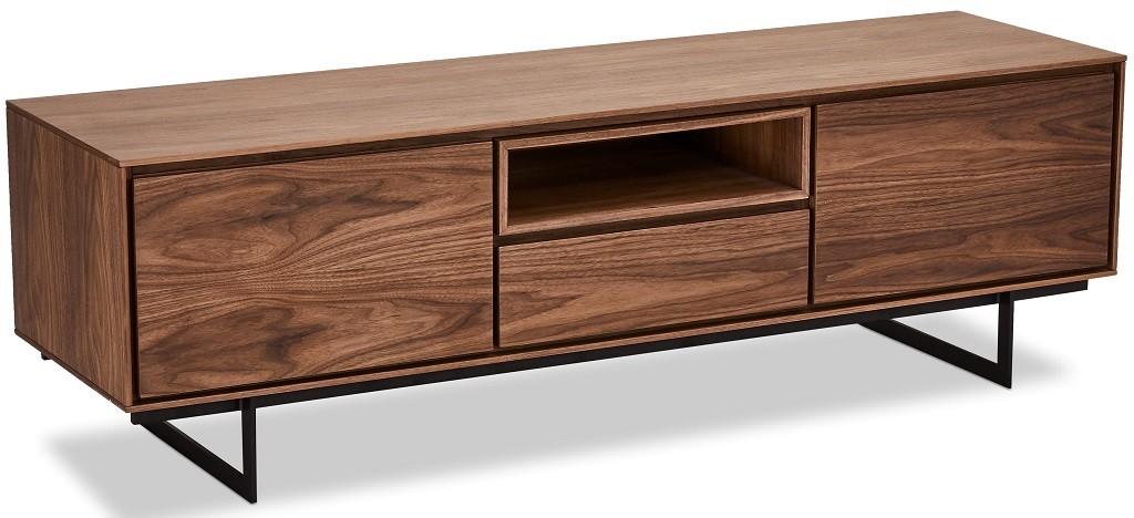 TV, Hifi stolek  - dřevěný TV stolek Laval (ořech)