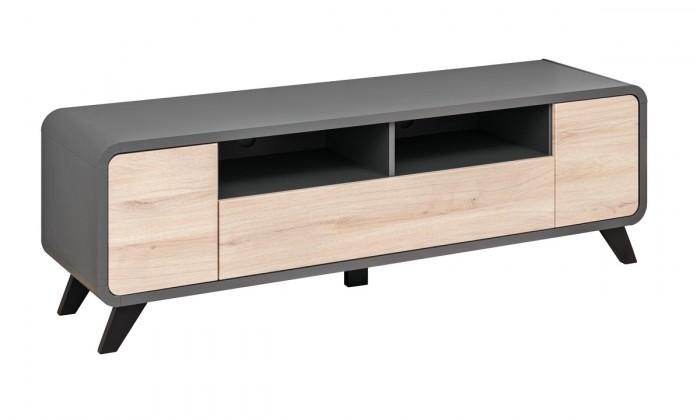 TV, Hifi stolek  - dřevěný TV stolek Lunet (antracit, kronberg)