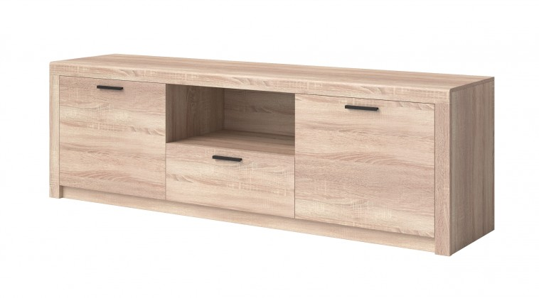 TV, Hifi stolek  - dřevěný TV stolek Nemesis - velký (dub sonoma)
