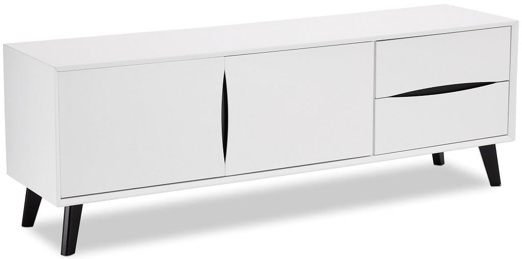 TV, Hifi stolek  - dřevěný TV stolek Sens (bílá, černá)