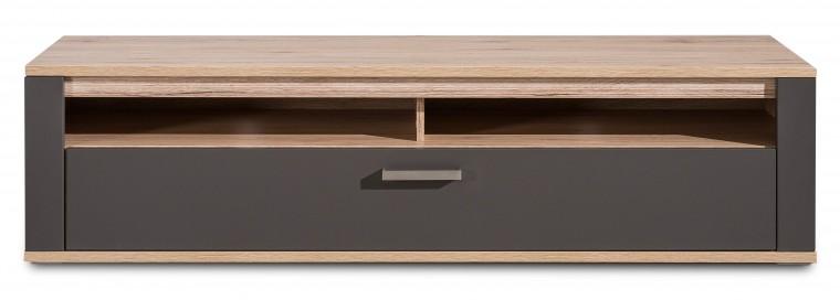 TV, Hifi stolek  - dřevěný Varino Typ 31 (san remo sand LDTD/grafit matná MDF)