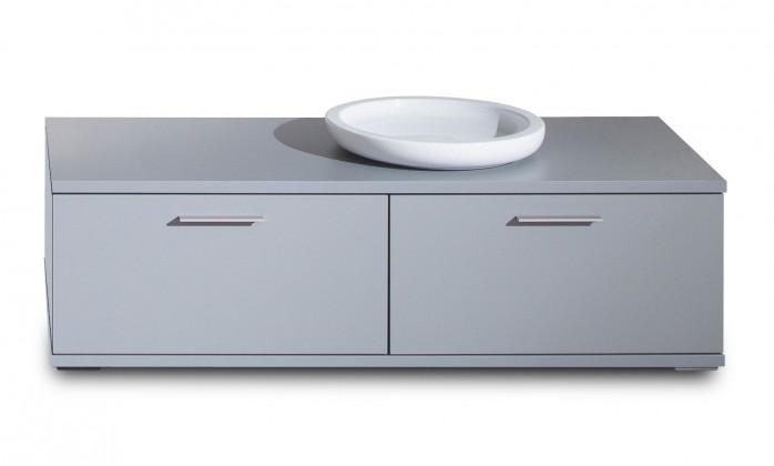 TV, Hifi stolek  - dřevěný Veto - Typ 35 (šedá/šedá supermat)