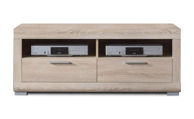 TV, Hifi stolek  - dřevěný Viva - Tv stolek, 2x zásuvka (dub sonoma)