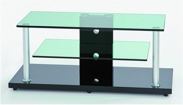 TV, Hifi stolek - skleněný RTV-5 BIS (Wenge/sklo)