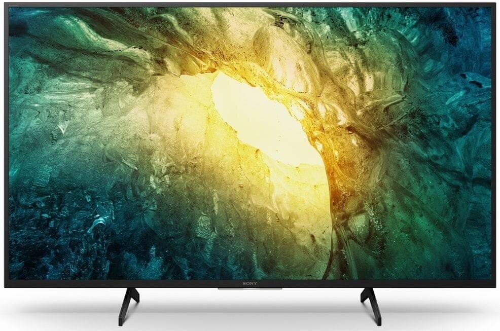 """TV s úhlopříčkou 48 až 50"""" (122 až 127 cm) Smart televize Sony KD-49X7055 (2020) / 49"""" (123 cm) OBAL POŠKOZE"""