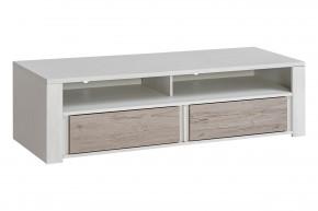 TV stolek Alvo - 2 zásuvky (andersen white pine/andersen beige)