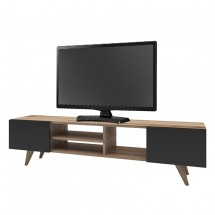 TV stolek Berg (ořech, černá)