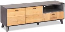 TV stolek Hakon (hnědá, šedá)
