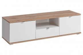 TV stolek Lund (dub wotan/bílá mat)