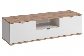 TV stolek Lund (dub wotan/bílý mat)