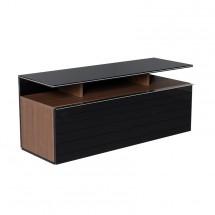 TV stolek Onyx (černá, ořech)