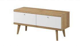 TV stolek Primo (dub riviera, bílá)