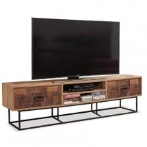 TV stolek Toska (borovice, hnědá)