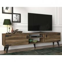 TV stolek Uran (černá, ořech)
