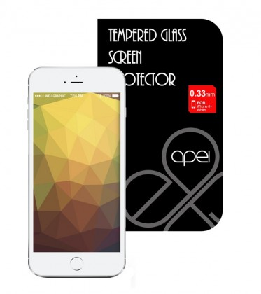 Tvrzená skla Apei Glass Protector iPhone 6+ White Full (12134)