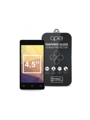 Tvrzená skla Apei Slim Round Glass Protector for  4,5'' Phones (0.3mm)