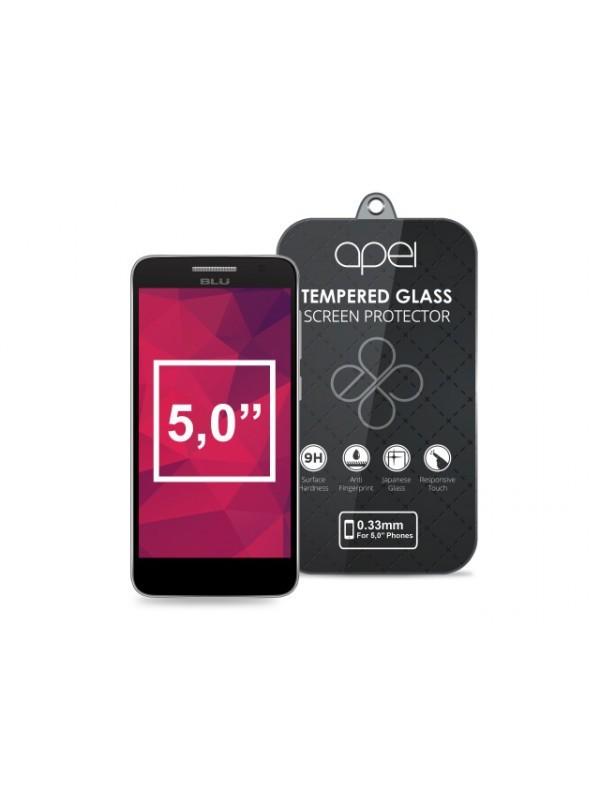 Tvrzená skla Apei Slim Round Glass Protector for  5,0'' Phones (0.3mm)