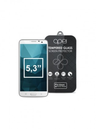 Tvrzená skla Apei Slim Round Glass Protector for  5,3'' Phones (0.3mm)