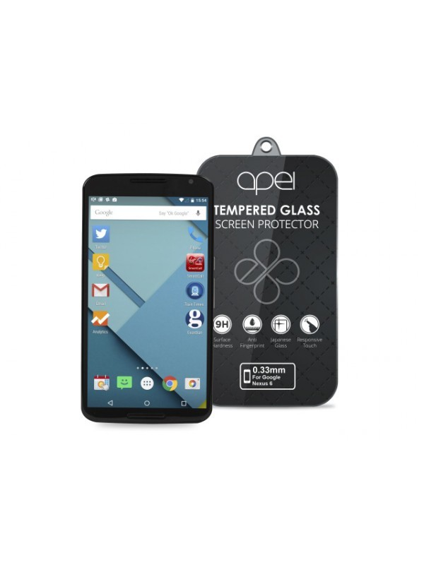 Tvrzená skla Apei Slim Round Glass Protector for Google NEXUS 6 (0.3mm)