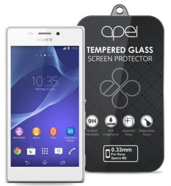 Tvrzená skla Apei Slim Round Glass Protector for Sony M2 (0.3mm)