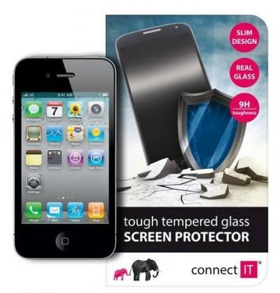 Tvrzená skla Connect IT Ochranné tvrzené sklo iPhone 4/4S CI-446