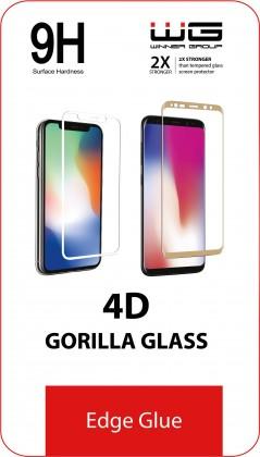 Tvrzená skla na Samsung Tvrzené sklo 4D pro Samsung Galaxy S20+, Edge Glue, černá