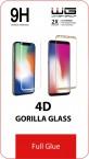 Tvrzené sklo 4D Edge Glue Samsung A20e, černá