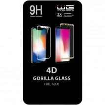 Tvrzené sklo 4D pro Samsung A10, Full Glue, černá