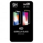 Tvrzené sklo 4D pro Samsung Galaxy S20+, Edge Glue, černá