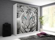 Tygrys - Skříň, 200/214/62 (bílá/potisk)