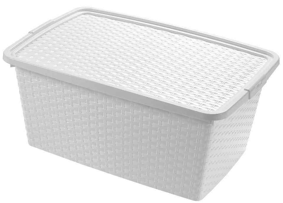 Úložné boxy Úložný box s víkem Heidrun HDR4510, 10l, plast