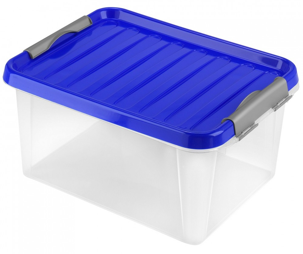 Úložné boxy Úložný box s víkem Heidrun HDR604, 14l, plast
