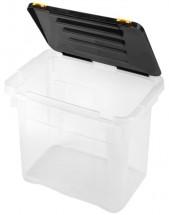 Úložný box s víkem Heidrun HDR652, 18l, plast