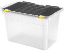 Úložný box s víkem Heidrun HDR656, 54l, plast