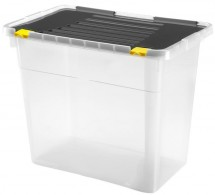 Úložný box s víkem Heidrun HDR658, 72l, plast