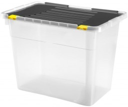 Úložný box s víkem Heidrun HDR660, 100l, plast MÍRNÁ VADA VZHLEDU