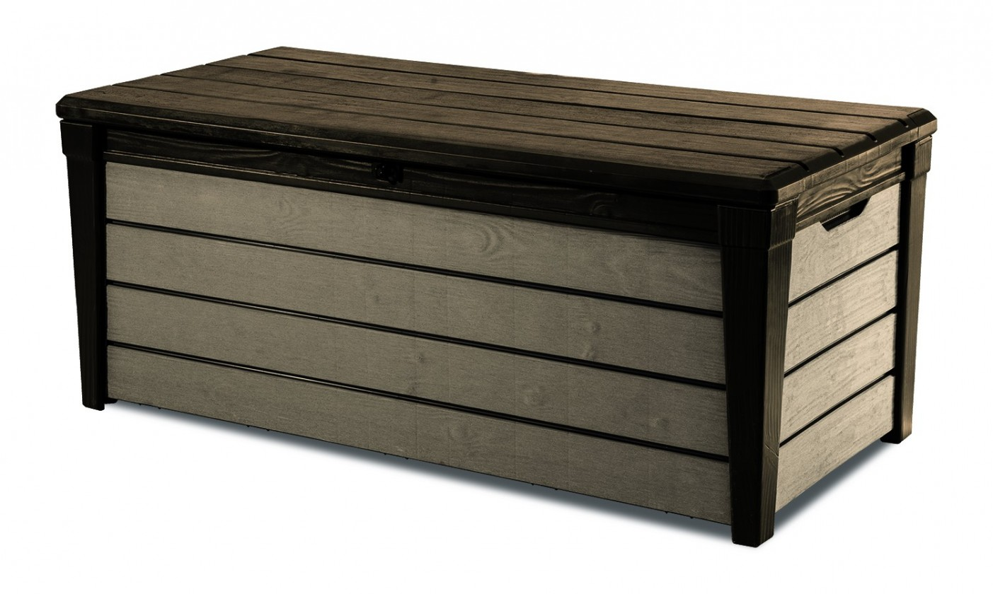 Úložný prostor Box Brushwood, 455L, new wood look (hnědá)