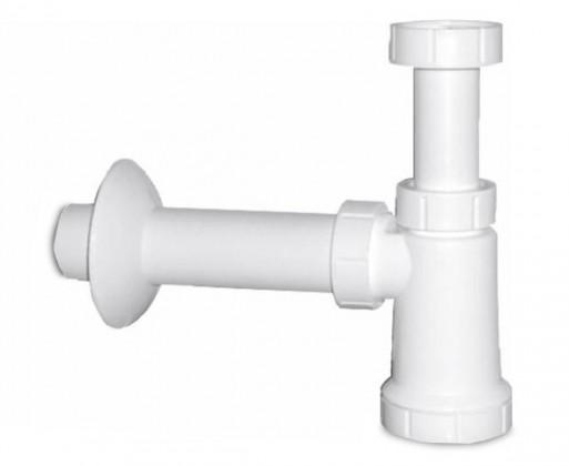 Umyvadlový sifon (bílý plast)